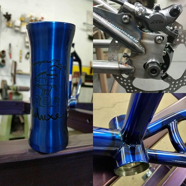 Few shots of @graveyardtrails custom that we just finished up. Welds by @13below0 #cheengineering #cheperformance #deluxebmx