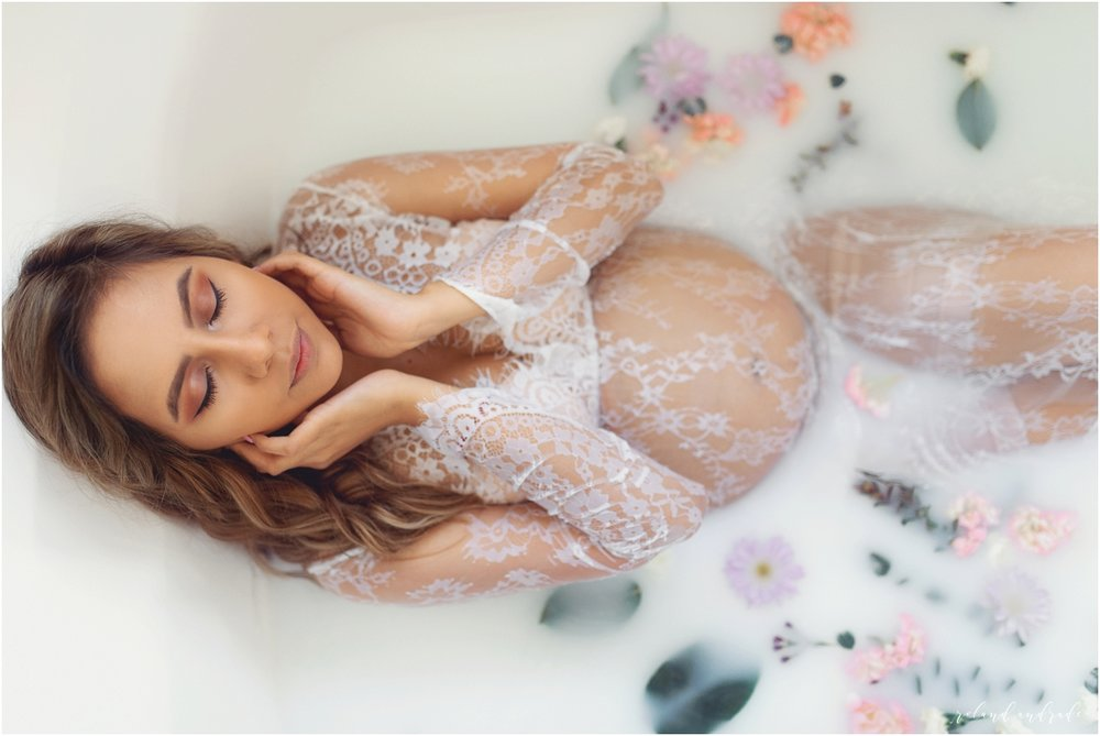 Joliet Aurora Naperville Maternity Photographer - Maternity Session Milk Bath Maternity Shoot_0010.jpg