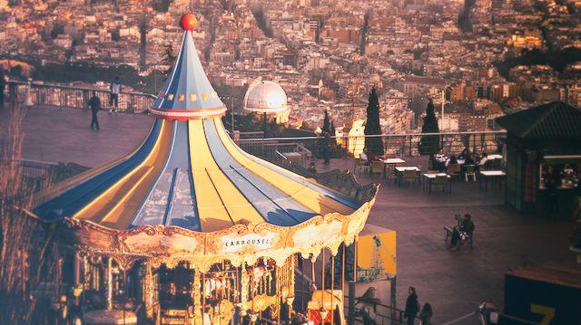 TIBIDABO AMUSEMENT PARK & SAGRAT COR TEMPLE    Park & Temple  overlooking  Barcelona  - TripAdvisor awarded -  Free (kids park excepted)