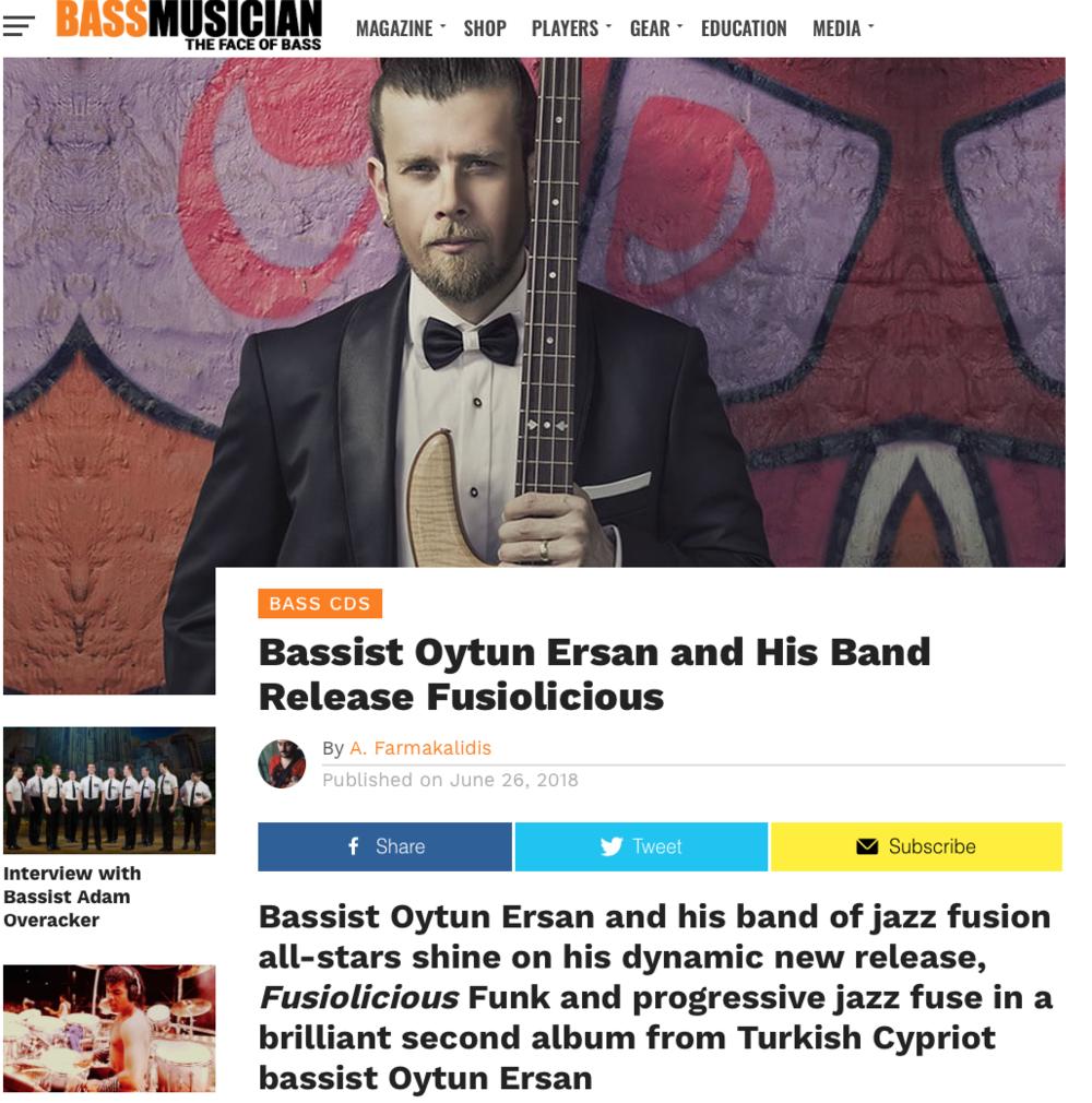 oytun ersan bass musician magazine