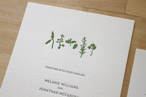 Copy of Farm to Table Letterpress Invitation
