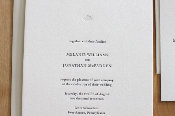 Copy of Lotus Letterpress Invitation