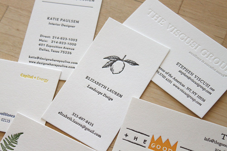 Business Cards  Letterpress Wedding Invitations  Moontree Letterpress