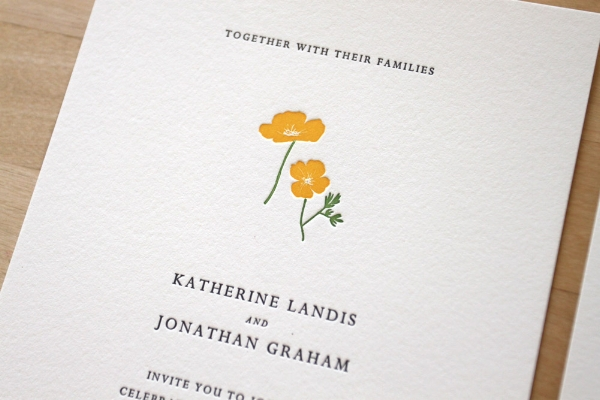 New York Letterpress Wedding Invitation