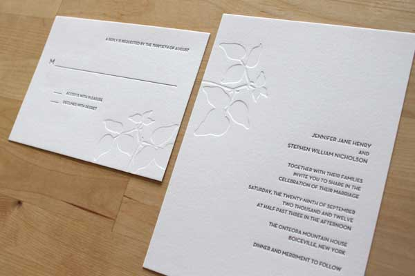 Letterpress Wedding Invitations Brooklyn