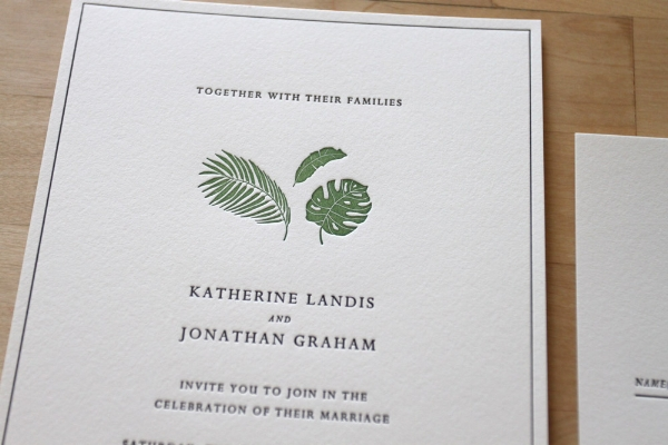 Brooklyn Letterpress Invitations