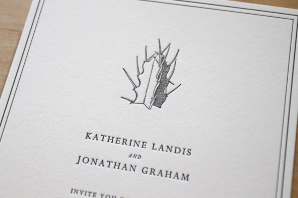 New York City Letterpress Invitation