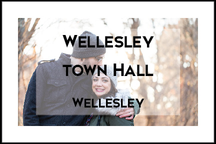 Wellesley Town Hall Engagement Session by Tracy Rodriguez Photography