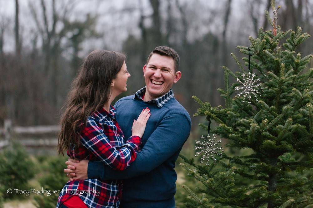 Christmas Tree Farm Engagement Session - Boston Engagement Session by Tracy Rodriguez Photography