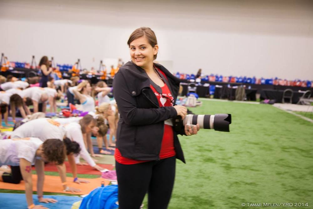 This is me at Yogathon 2015!       {Photo by the lovely Tamar Melen}