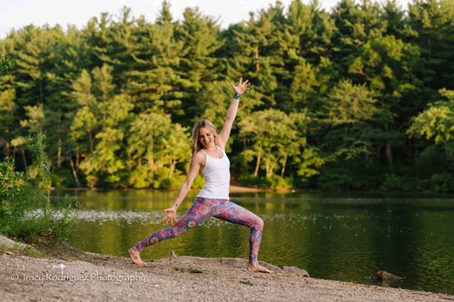 Milton, MA Yoga Photo Shoot at Houghton's Pond {W/ Kathryn