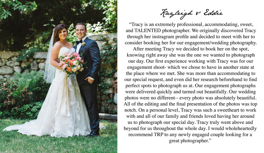 5 Start Wedding Review - Boston Wedding Photographer