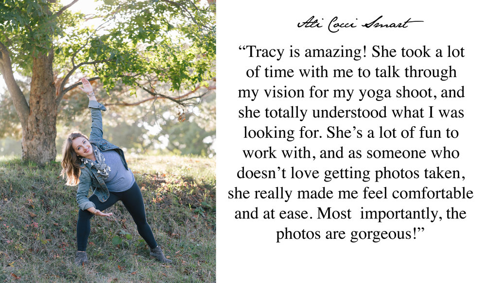 5 Star Review for Boston Yoga Photography Tracy Rodriguez Photography