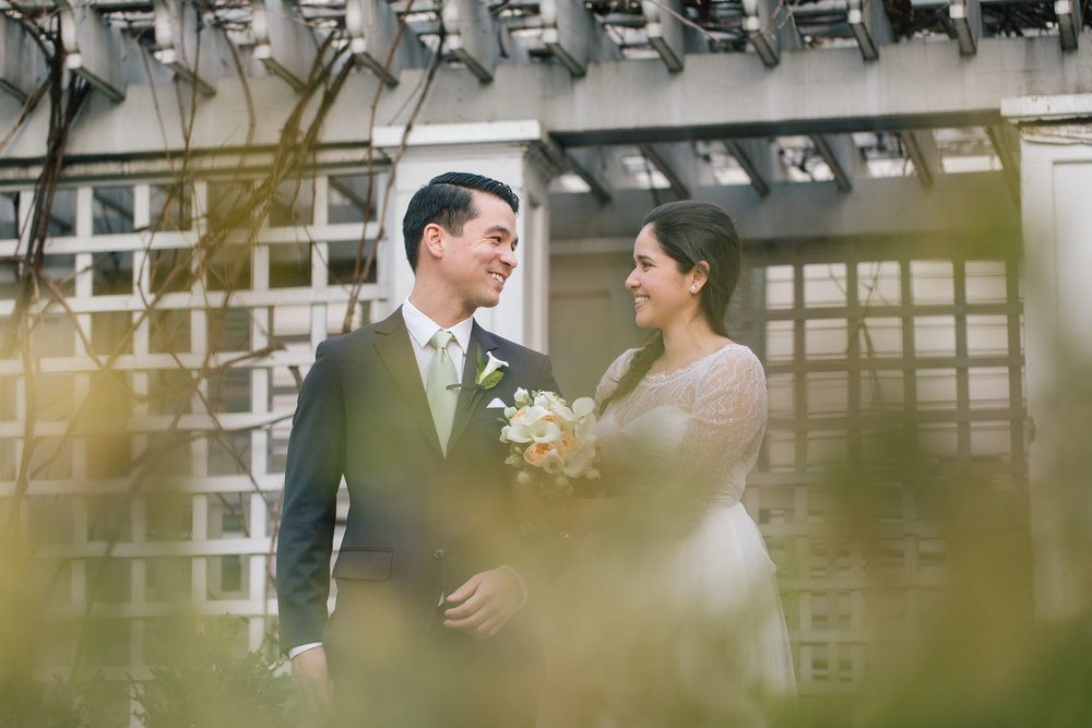 Sneaking off to photograph the newlyweds - Mariana and Michael's intimate Cambridge wedding