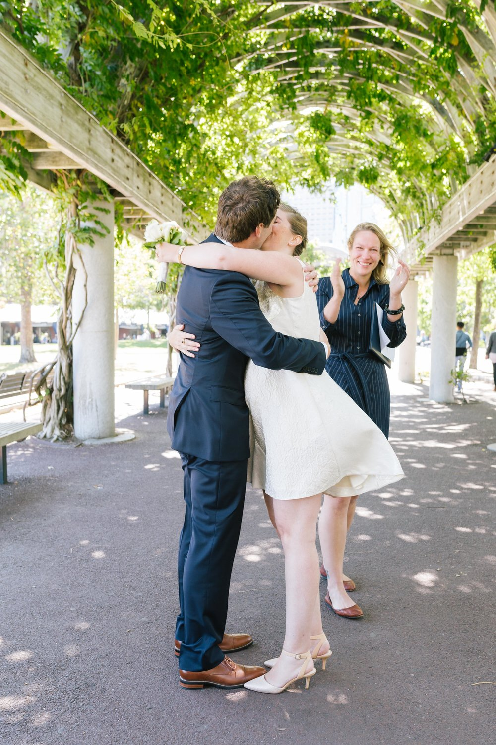 Officially husband and wife - Julie and Patrick's intimate Boston wedding at the Christopher Columbus Waterfront Park