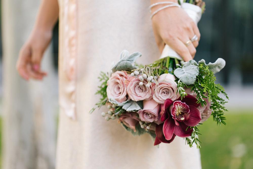 Beautiful wedding florals by Winston Flowers - Edin and Vanessa's intimate Cambridge City Hall wedding