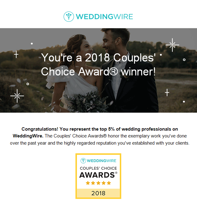 Boston Wedding Photographer Award