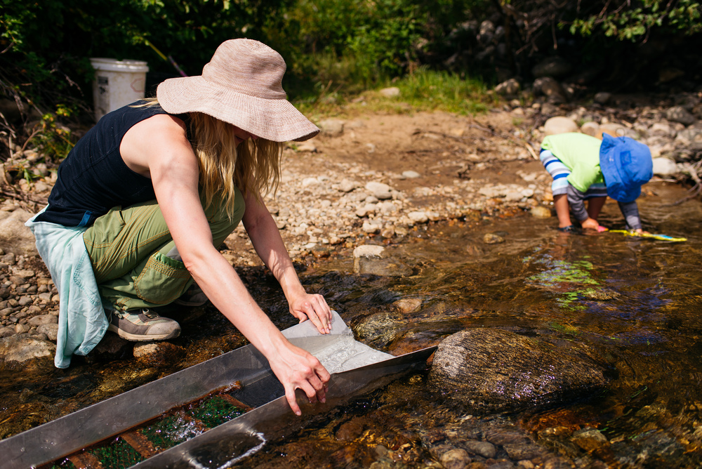 Gold panning near my cousin's land