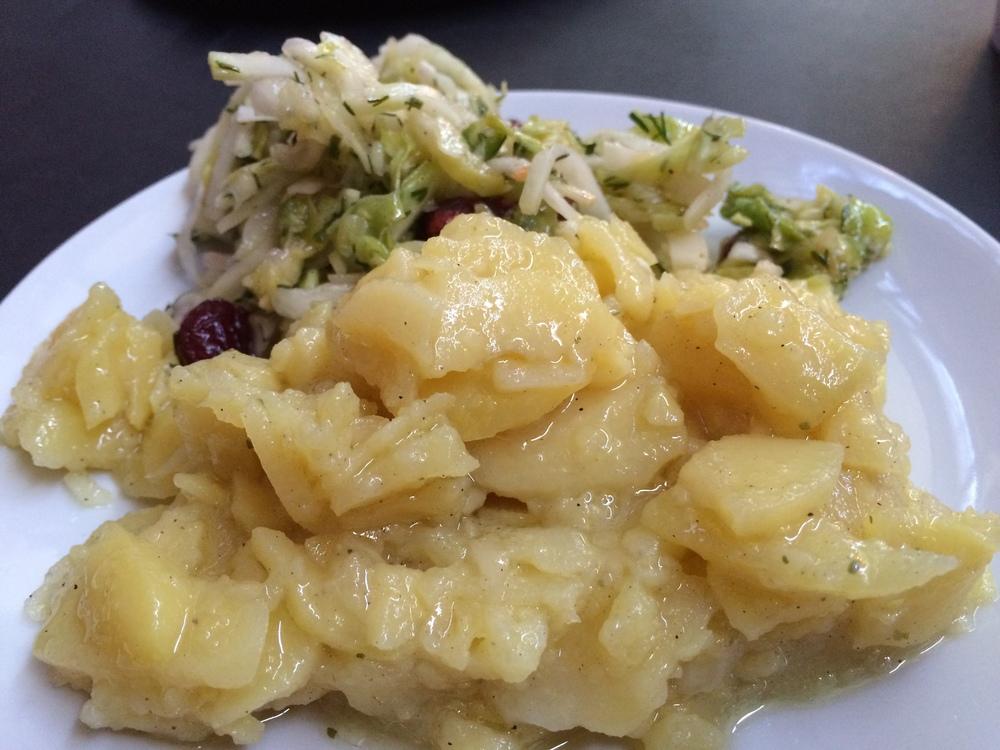 German Potato and Cabbage Salads