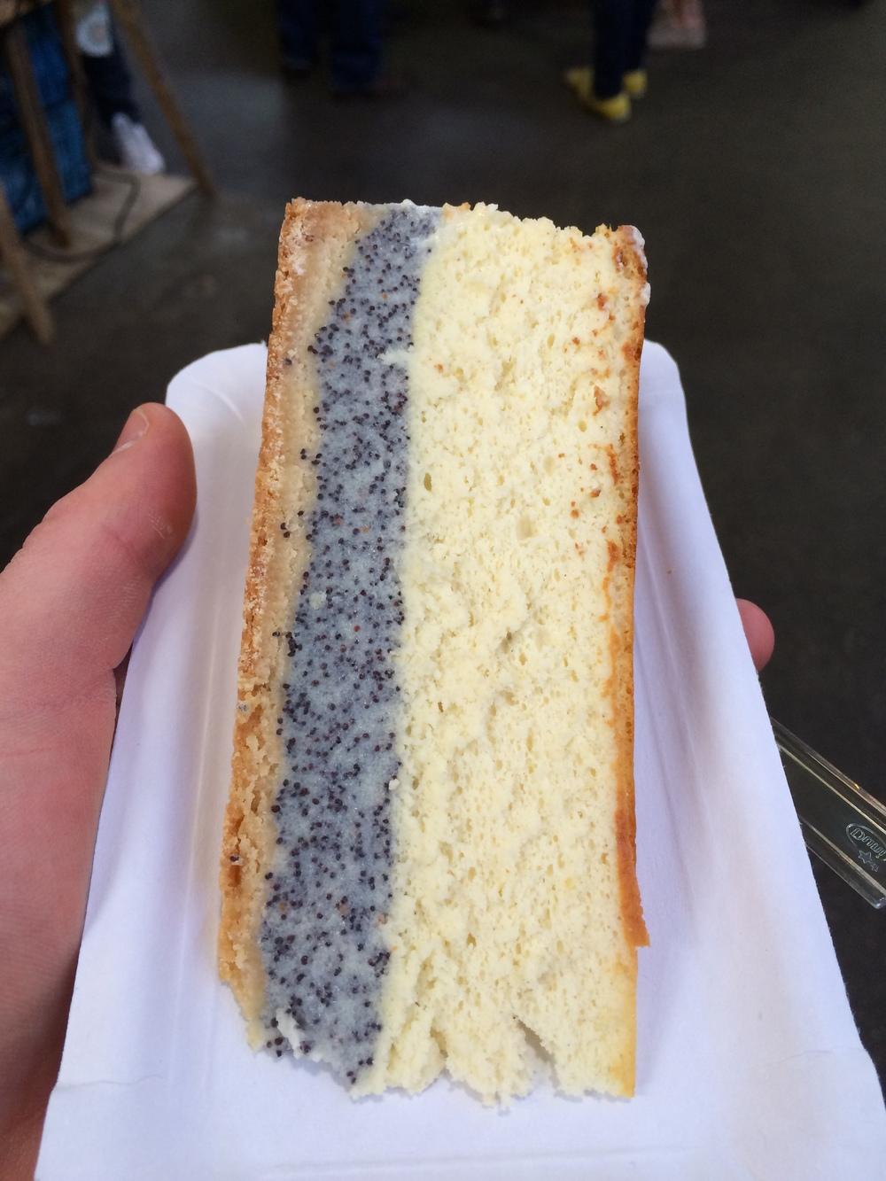 German Cheesecake with Poppyseeds