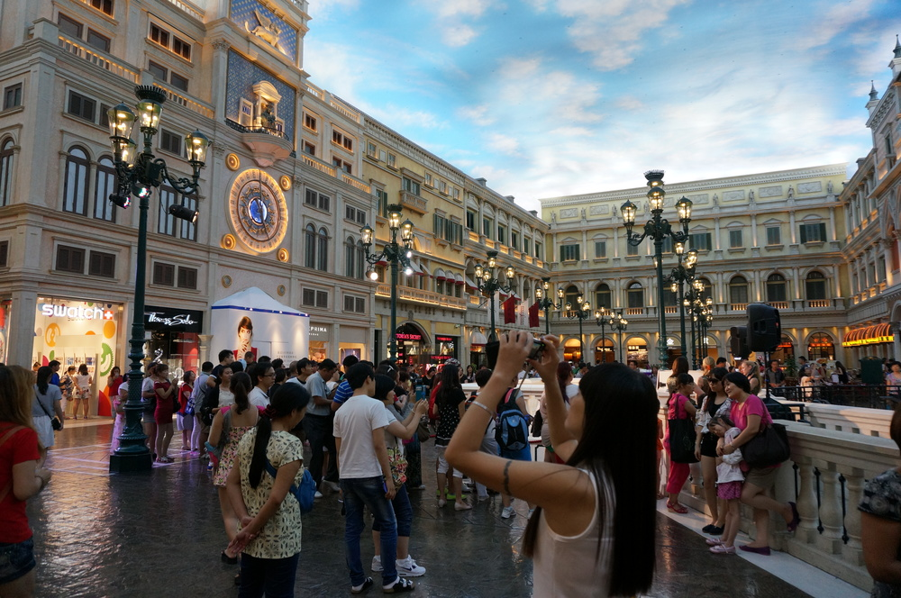 The new, improved flood free St Mark's Square. Complete with all the luxury boutiques you just can't live without.