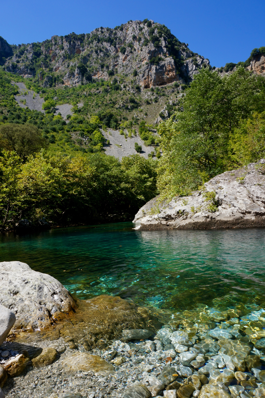 river in vikos gorge