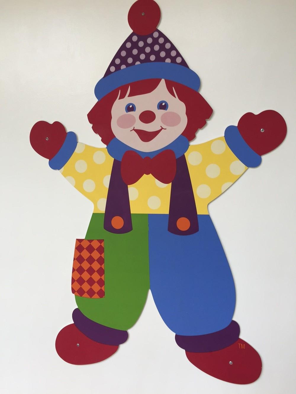 Voici Gymbo le Clown mascotte de GYMBOREE