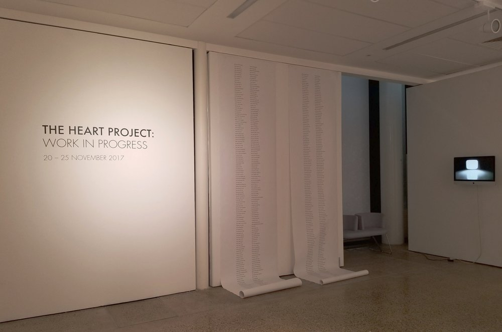 Installation shot from Work in Progress Exhibition at The University of Southampton and the Winchester School of Art