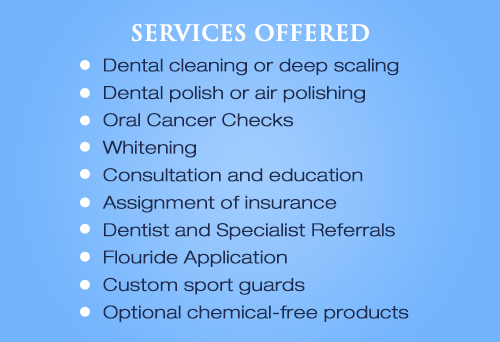 Dental Hygiene Peterborough Services