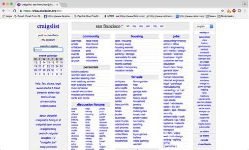 Craigslist, where it's always 1998.