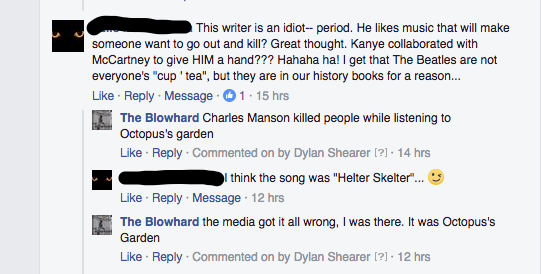 In this one I like how they admitted the Beatles' music was used to kill people.