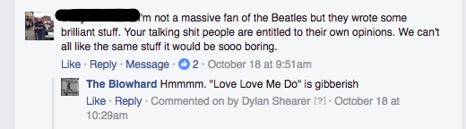 """""""Love Love Me Do"""" doesn't even mean anything."""