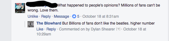 Billions >>>>>>>> MIllions of fans.