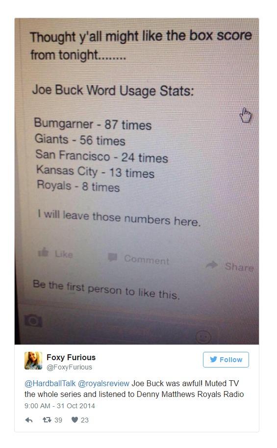 2014 World Series Fan Hate