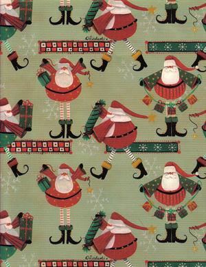 fun cute whimsical santa gift wrapjpg