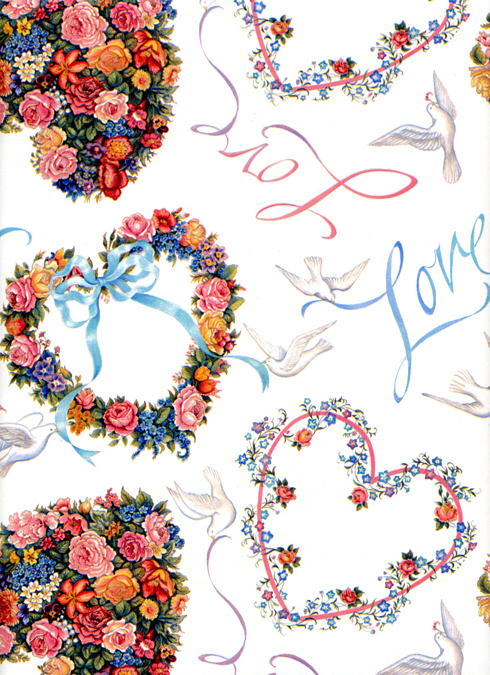 floral wedding shower gift wrapping paperjpg