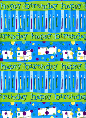 Lime Green Happy Birthday Gift Wrap