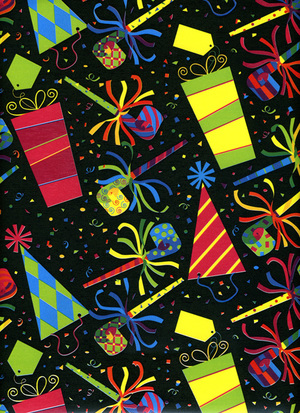 Bright Birthday Gift Wrapping Paper Design