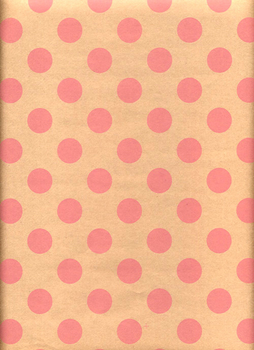 Baby Pink Dots Kraft Rich Plus Gift Wrapping Paper Wholesale