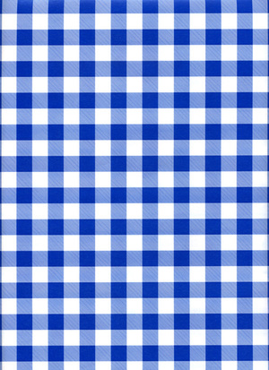Blue Gingham Baby Boy Gift Wrapping Paper