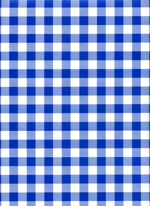 Blue Gingham Reversible Rich Plus Gift Wrapping Paper Wholesale