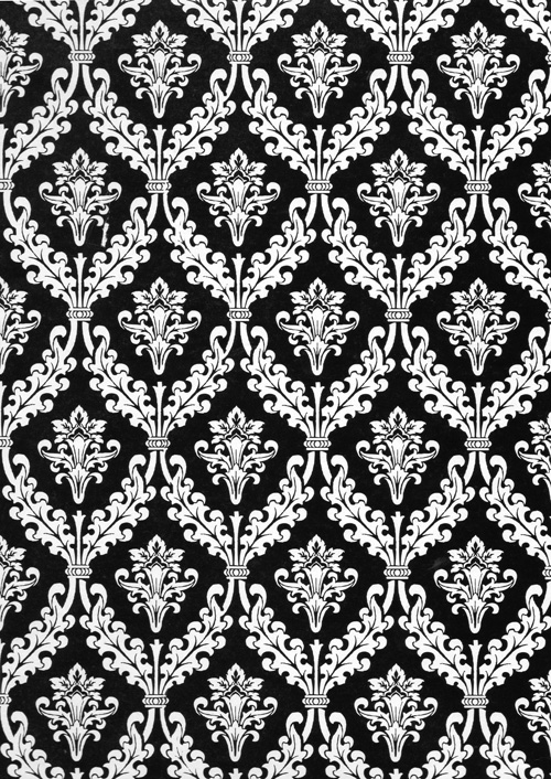 Black White Damask Rich Plus Gift Wrapping Paper Wholesale