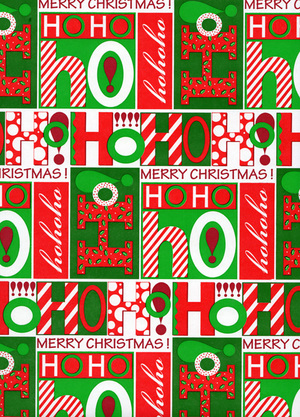 cute word design christmas gift wrap paperjpg