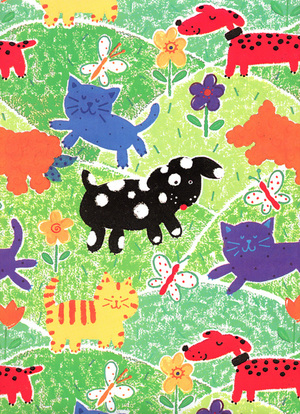 Cats Dogs Girl Boy Childrens Kids Wrapping Paper