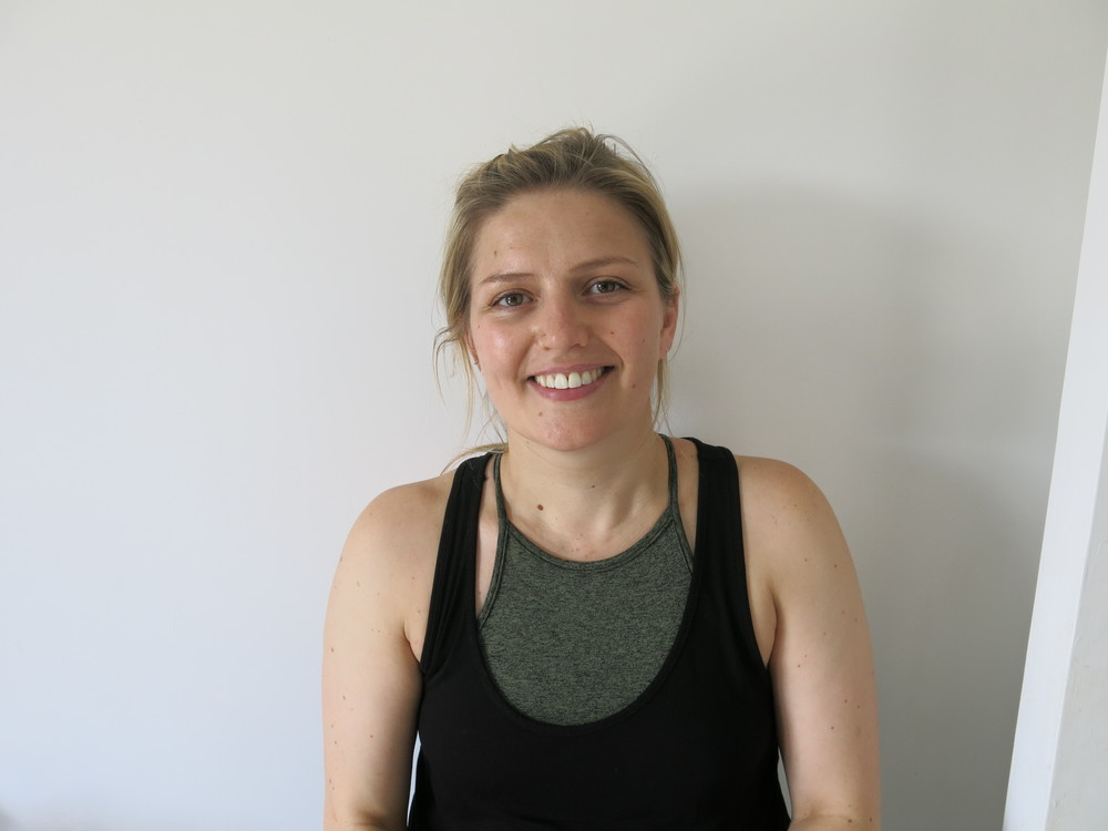 ...followed by the lovely Claire who led a packed Dynamic Hatha Yoga class