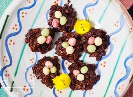 Chocolate Easter Nests by Hemsley + Hemsley (c)