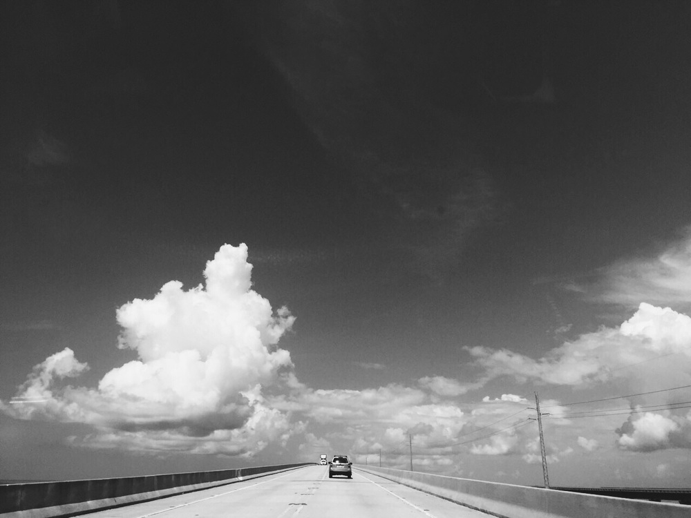 Road through bridge to Key West.
