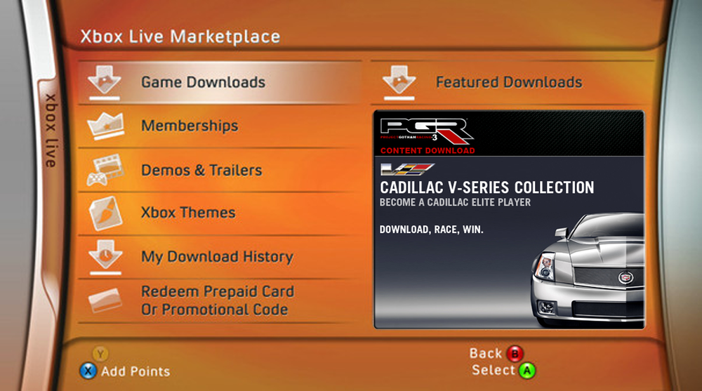So what was the competition that I was referring to?    Glad you asked. It was called   CADILLAC ELITE.    Use any of the three V-Series Collection cars on the Nurburgring race track and get a top 100 time to become one of the prestigious few Cadillac Elite players. When a gamer attained this, they were presented with a pop-up alerting them to this achievement as well as an exclusive Cadillac gamerrpic—social currency for this competitive environment.