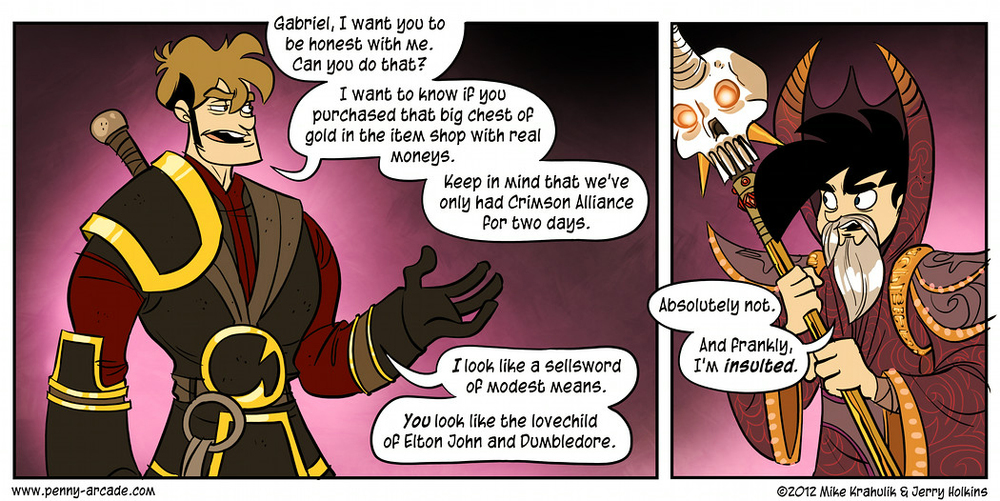 Lastly, our in-game microtransactions in a console game (first ever on Xbox) made it on to the radar of the good folks at Penny Arcade.  The comic does poke a little fun at it, but the  supporting article  applauded the choice that it afforded the user:  old fashioned elbow grease vs. time-saving, efficient perks.