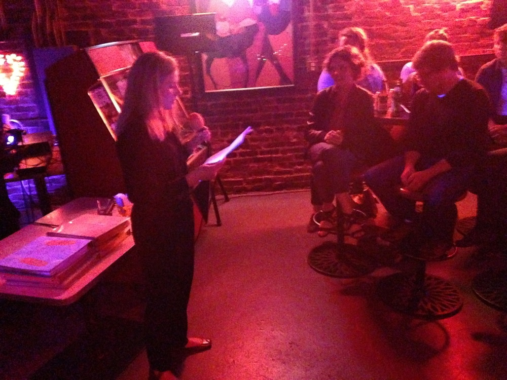Poet  Linsdey Alexander  reads to The Only-Tenn-I-See Crowd